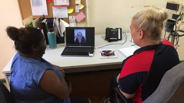 Telehealth can require at least three participants - a doctor at the other end, a client and the on-ground support worker.
