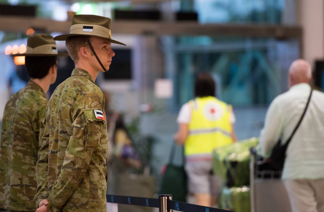 The Army has been helping civilian authorities across Australia enforce quarantine controls. Picture: Defence Media.