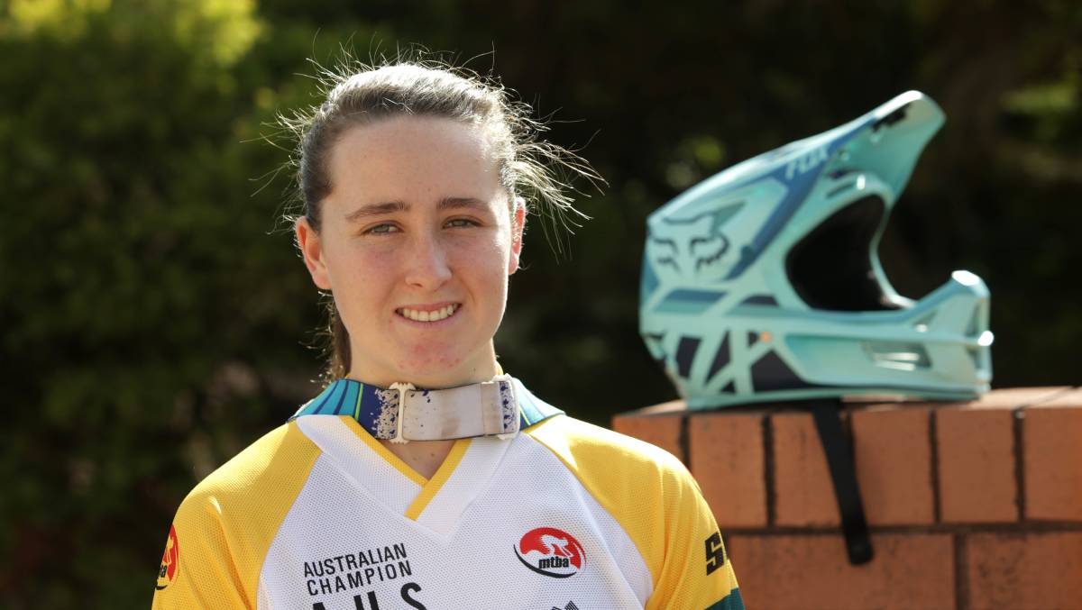 Heading off: Engadine 18-year-old Cassie Voysey will look to defend her national MTB crown next month. Picture: John Veage
