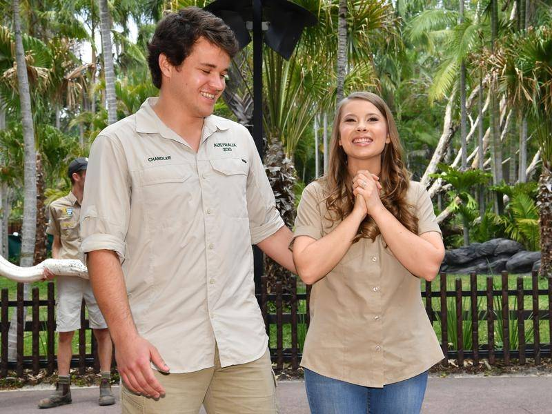 Bindi Irwin says the coronavirus outbreak meant there were no guests as she married Chandler Powell.