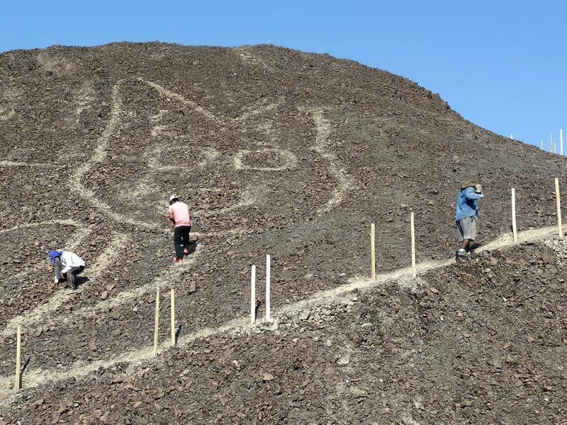 Archaeologists say the Nazca etching was obscured by erosion.