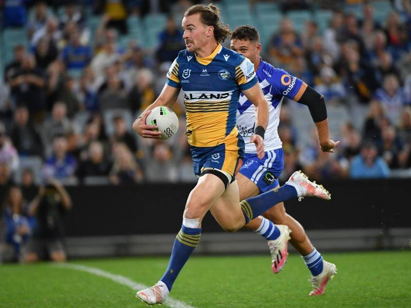 Clint Gutherson scored two tries as Parramatta swept aside Canterbury 32-10 in their NRL clash.
